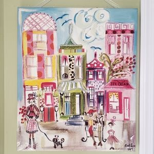 Colleen Karis Designs Glamor City Cafes Canvas Wal